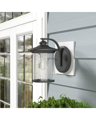 """Darby Home Co Corinth 1-Light Outdoor Sconce DRBC5729 Finish: Painted Black Size: 10.71"""" H x 7.48"""" W x 9.76"""" D"""