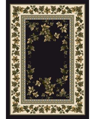 "August Grove Gleason Ivy Valley Onyx Area Rug W000259755 Rug Size: Rectangle 3'10"" x 5'4"""