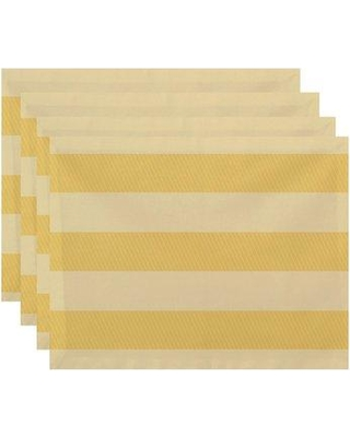 """Breakwater Bay Goddard 18"""" Placemat BRWT6943 Color: Yellow"""
