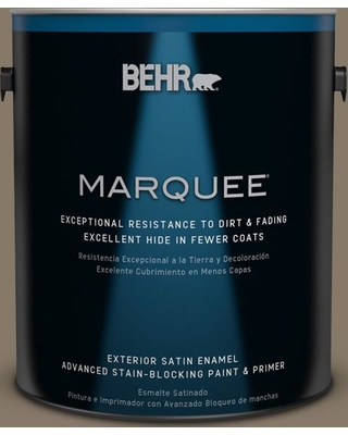 BEHR MARQUEE 1 gal. #740D-6 Mountain Elk Satin Enamel Exterior Paint and Primer in One