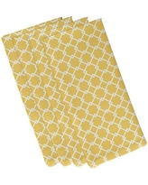 """e by design Link Lock Geometric Napkin N4GN10 Size: 19""""W x 19""""L Color: Yellow"""