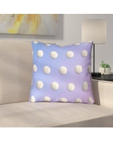 """East Urban Home Ombre Volleyball Throw Pillow with Zipper URBR7205 Size: 20"""" x 20"""", Color: Blue/Green"""