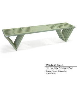 Backless Wood Bench 6' Made in America (Woodland Green)