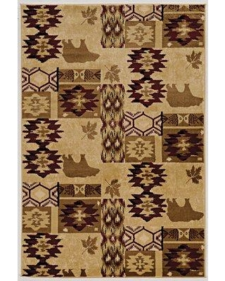 Millwood Pines Kailyn Lodge Beige/Brown Area Rug W000645979 Rug Size: Rectangle 2' x 3'