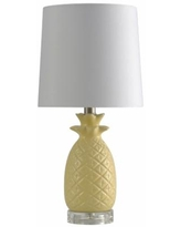 Faux Pineapple Ceramic Table Lamp, White