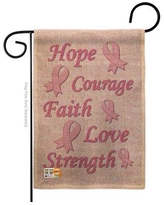 Find Deals On Breeze Decor Hope Faith Courage Purple Inspirational Support Impressions 2 Sided Burlap 19 X 13 In Flag Set In Gray Wayfair