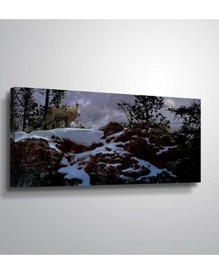 "Loon Peak 'Howling Wolf' Photographic Print LOPK6669 Format: Wrapped Canvas Size: 24"" H x 48"" W x 2"" D"