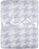 Tadpoles Houndstooth Printed Plush Microfiber Velour Baby Blanket bsbbhp004 / bsbbhp023 Color: Gray