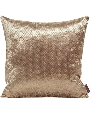 """Gouchee Home Glossy Throw Pillow M118C Color: Beige Size: 19"""" x 19"""""""