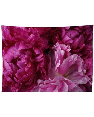 East Urban Home Lisa Argyropoulos Glamour Peonies Tapestry EUHH6633