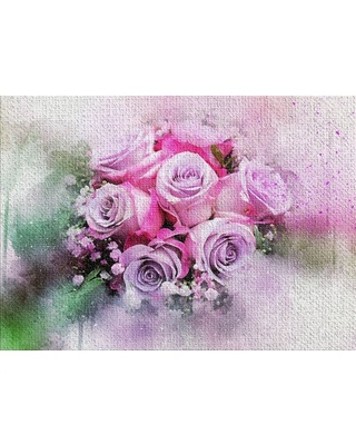 Flowers Pink Area Rug East Urban Home Rug Size: Rectangle 2' x 4'