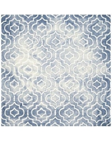 House of Hampton Berman Dip Dye Blue/Ivory Area Rug HOHN5269 Rug Size: Square 7'