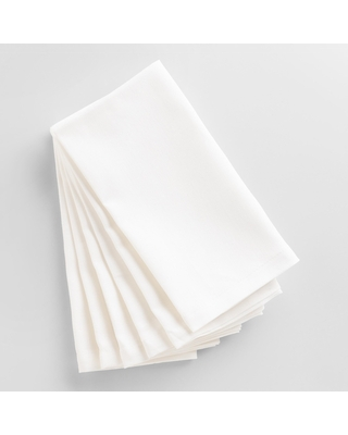 White Buffet Napkins 6 Count - Cotton by World Market