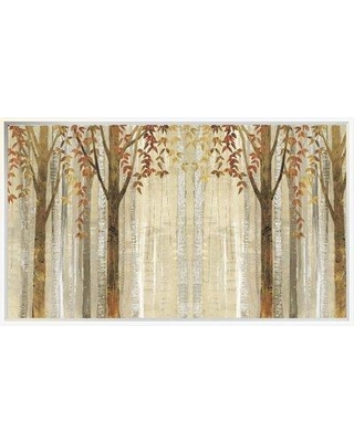"""East Urban Home 'Down to the Woods Autumn Crop' Print EUHE3489 Size: 22.1"""" H x 37.6"""" W Format: Framed"""