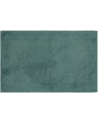 """SONOMA Goods For Life™ Cotton Reversible Solid Border Bath Rug - 23"""" x 38"""", Turquoise/Blue"""