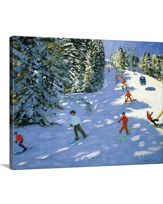 """Canvas On Demand 'Gondola Austrian Alps' by Andrew Macara Painting Print on Canvas 1048701_24_20x16_none / 1048701_24_30x24_none Size: 24"""" H x 30"""" W x 1.25"""" D"""