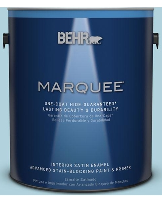 BEHR MARQUEE 1 gal. #MQ4-55 Balboa One-Coat Hide Satin Enamel Interior Paint and Primer in One