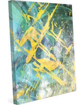 """Click Wall Art 'Sky Panes' Painting Print on Wrapped Canvas ABS0000912CAN Size: 20"""" H x 16"""" W x 1.5"""" D"""