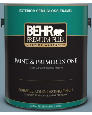 BEHR Premium Plus 1 gal. #530F-5 Waterscape Semi-Gloss Enamel Exterior Paint and Primer in One