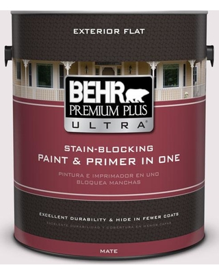 BEHR Premium Plus Ultra 1 gal. #690E-1 Shell Brook Flat Exterior Paint and Primer in One