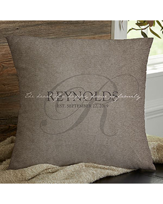 Personalized Family Throw Pillow - Heart Of Our Home - 18