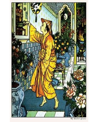 Buyenlarge Aladdin Secures the Lamp by Walter Crane Painting Print 0-587-09789-2