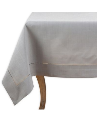 Saro Lifestyle Rochester 60-Inch Square Tablecloth in Grey
