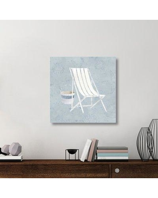 "East Urban Home 'Serene Seaside III' Graphic Art Print on Canvas UBAH6062 Size: 30"" H x 30"" W x 1.5"" D"