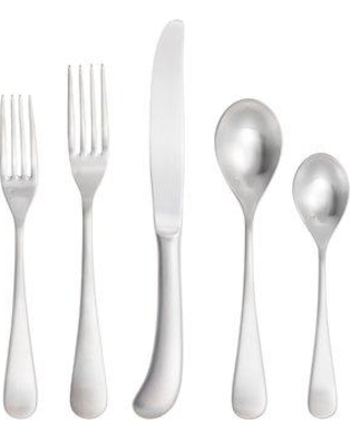 Fortessa Mariposa Brushed 5 Piece 18/10 Stainless Steel Flatware Set 5PPS-115B-05