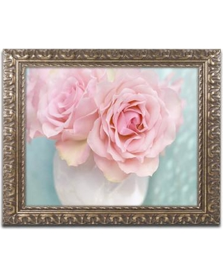 "House of Hampton 'Pink Rose Bouquet' Framed Photographic Print HOHP9954 Size: 11"" H x 14"" W x 0.5"" D"