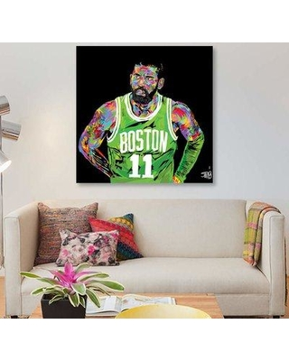 "East Urban Home 'Kyrie Irving' Graphic Art Print on Canvas EBHV1906 Size: 26"" H x 26"" W x 1.5"" D"