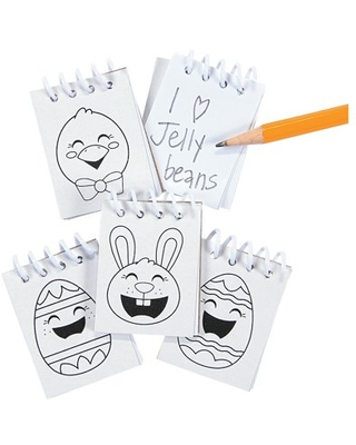 Color Your Own Mini Easter Notepads (48Pc) - Craft Kits - 48 Pieces