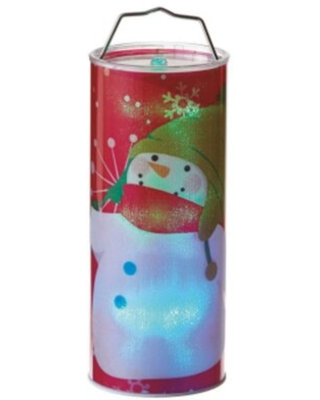 Battery Operated Transparent Waving Snowman LED Color Changing Lighted Hanging Christmas Metal/Plastic Lantern The Holiday Aisle®