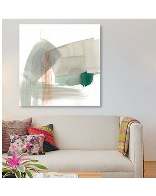 """East Urban Home 'Earthy Gestures IV' Print on Canvas EBHS6422 Size: 18"""" H x 18"""" W x 1.5"""" D"""