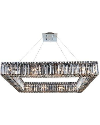 Everly Quinn Riesel 16-Light Crystal Chandelier W001458525