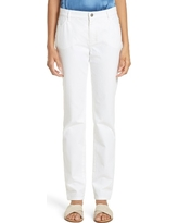 Women's Lafayette 148 New York Curvy Fit Jeans, Size 4 - White
