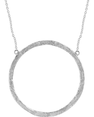 Zales Brushed Open Circle Knotted Necklace in Sterling Silver jbFHQLy9w