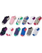 Amazon Brand - Spotted Zebra Kids Girls Ankle Socks, 12-Pack Space and Math, X-Small