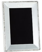"""Beaded Silver-Plated Picture Frame, 4 x 6"""""""