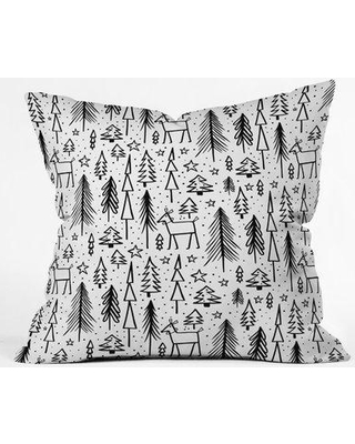 "East Urban Home Heather Dutton Winter Wonderland Throw Pillow EUHG2468 Size: 20"" x 20"""