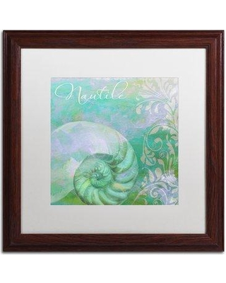 "Trademark Fine Art 'Painted Sea I' by Color Bakery Framed Graphic Art ALI4284-W1 Mat Color: White Size: 16"" H x 16"" W x 0.5"" D"