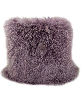 Foundry Select Solon Wool Throw Pillow W001575645 Color: Mauve