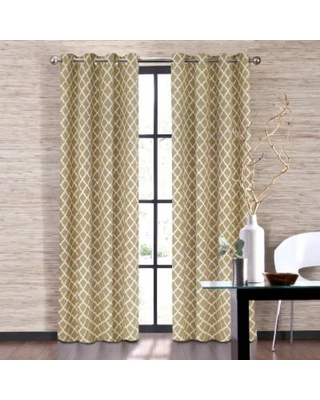 Colordrift 1-Panel Misha Window Curtain, White
