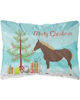 The Holiday Aisle Howth Percheron Horse Christmas Indoor/Outdoor Throw Pillow BF148765