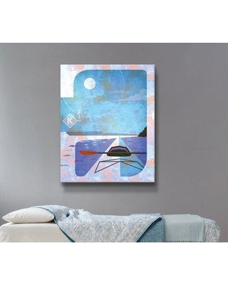 """East Urban Home 'Kayak' Framed Graphic Art Print on Canvas W001013469 Size: 48"""" H x 36"""" W x 2"""" D Format: Wrapped Canvas"""