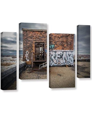 "Wrought Studio 'Abandoned Rooftop' Photographic Print Multi-Piece Image on Wrapped Canvas VRKG1607 Size: 24"" H x 36"" W x 2"" D"