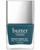 butter London Patent Shine 10X Nail Lacquer - Bang On (deep teal crème)