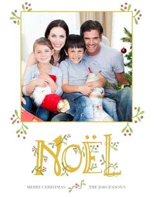 Christmas Photo Cards 5x7 Cards, Standard Cardstock 85lb, Card & Stationery -Once Upon A Noel