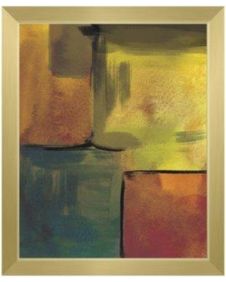"Click Wall Art 'Canary Echo Chamber' Framed Print of Painting CBS0002719FRA Format: Gold Framed Size: 26.5"" H x 22.5"" W"