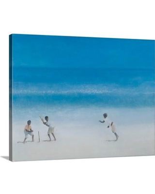 """Canvas On Demand Cricket on the Beach 2012 by Lincoln Seligman Painting Print on Canvas 2360405_24_20x16_none / 2360405_24_30x24_none Size: 24"""" H x 30"""" W x 1.25"""" D"""